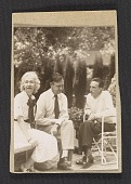 view Louise and Walter Arensberg with Marcel Duchamp digital asset number 1