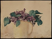 view Violets in a yellow mug digital asset number 1