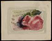 view Robert Strong Woodward birthday card to his mother digital asset number 1