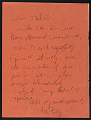 "view Melinda Wortz papers digital asset: ""Fan Letters"""