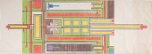 view Frank Lloyd Wright textile design studies, [ca. 1955] digital asset number 1