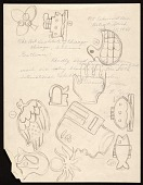 view Sketches drawn over a letter addressed to the Art Institute of Chicago digital asset number 1