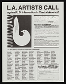 view Leaflet for L.A. Artists Call against U.S. intervention in Central America! digital asset number 1