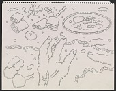 view Drawing of hands reaching for food digital asset number 1