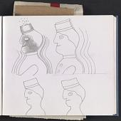 view Ray Yoshida sketchbook digital asset: page 1