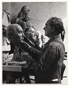 view William Zorach working on a portrait bust digital asset number 1