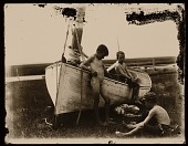 view Boys with Fishing Boat digital asset: Boys with Fishing Boat