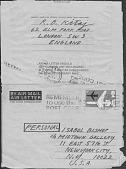 view Correspondence with R. B. Kitaj digital asset: Correspondence with R. B. Kitaj