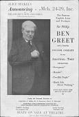 view Ben Greet Play Announcement digital asset: Ben Greet Play Announcement