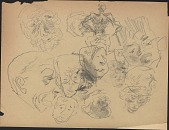 view Sketches by Unidentified Artists digital asset: Sketches by Unidentified Artists