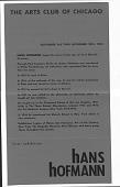 view Hofmann, Hans - Announcements and Catalogs digital asset: Hofmann, Hans - Announcements and Catalogs