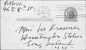 view Krasner, Lee (Correspondence with Pollock) digital asset: Krasner, Lee (Correspondence with Pollock)