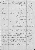 view Hiram Powers papers digital asset: List of Powers Family Births, Marriages, and Deaths