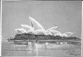 view Photographs of Sketches of Winning Design for Sydney Opera House digital asset: Photographs of Sketches of Winning Design for Sydney Opera House
