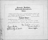 view Raphael Soyer papers digital asset: Award Certificates