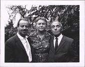 view Photographs of Raphael Soyer with Wife Rebecca & Friends digital asset: Photographs of Raphael Soyer with Wife Rebecca & Friends