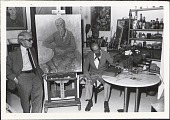 view Photographs of Raphael Soyer with Jose De Creeft digital asset: Photographs of Raphael Soyer with Jose De Creeft