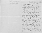 view James Stillman letters relating to Homer Dodge Martin digital asset: Letters from Homer Martin to James Stillman