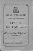 view Family Record Book for Storrs and Deville-Chabrol digital asset: Family Record Book for Storrs and Deville-Chabrol