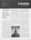 view Periodicals, Zabriskie Photography Newsletter - Zein digital asset: Periodicals, Zabriskie Photography Newsletter - Zein