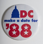 "view Pinback Button, ""DC Make a Date for '88"" digital asset number 1"