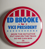 "view Pinback Button, ""Brooke for Vice President"" digital asset number 1"