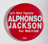 view Pinback Button, Alphonso Jackson Mayoral Campaign digital asset number 1