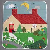 view Quilt Depicting a Farm Scene digital asset number 1