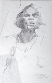 view Sketch of Marian Anderson (one of three) digital asset number 1
