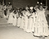 view Children play bridemaids at Tom Thumb wedding digital asset: Children play bridemaids at Tom Thumb wedding