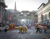 view 2017 Images digital asset: Annual Chinatown Parade around Gallery Place Chinatown in Washington, DC