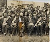 view Group portrait of African American men in Masonic regalia digital asset: Group portrait of African American men in Masonic regalia