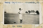 view Norman Davis Photograph Collection digital asset: Ed Berry posing with bat, Alexandria, Virginia