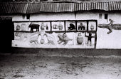 view Field Work in Abomey, Benin (formerly, Dahomey): Mural Painting and Decoration Depicting Households, Animal and Human Figures digital asset: Field Work in Abomey, Benin (formerly, Dahomey): Mural Painting and Decoration Depicting Households, Animal and Human Figures