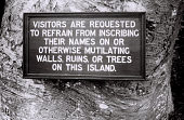 view Field Work in Bunce Island, Sierra Leone: Sign before Entering the British Slave Castle digital asset: Field Work in Bunce Island, Sierra Leone: Sign before Entering the British Slave Castle
