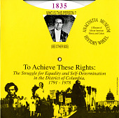 view To achieve these rights: the struggle for equality and self-determination in the District of Columbia, 1791–1978 exhibition records digital asset: Histoy wheel for To Achieve These Rights exhibit history wheel