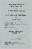 view National Association of Colored Women's Clubs and Sears-Roebuck Foundation club projects flyer digital asset: National Association of Colored Women's Clubs and Sears-Roebuck Foundation club projects flyer