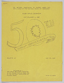view The National Association of Colored  Women, Inc., bulletin #1 Golden Jubilee Celebration, July 27- August 2, 1946 digital asset: The National Association of Colored  Women, Inc., bulletin #1 Golden Jubilee Celebration, July 27- August 2, 1946