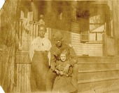 view Siblings Francis and Theodore M. Sullivan with family friend digital asset: Siblings Francis and Theodore M. Sullivan with family friend