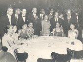 view Percival Bryan and others pose at unidentified social gathering digital asset: Percival Bryan and others pose at unidentified social gathering