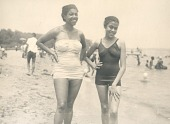 view Mrs. Catherine Bryan and friend at Coney Island digital asset: Mrs. Catherine Bryan and friend at Coney Island