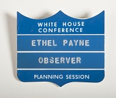 view Press Badge, White House Conference Planning Session digital asset number 1