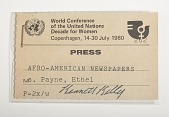 view Press Badge, United Nations digital asset number 1