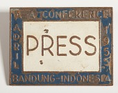 view A-A Conf. Bandung, Indonesia, 1955 Press Pin digital asset number 1