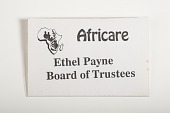 view Africare Board of Trustees Name Tag Worn by Ethel L. Payne digital asset number 1