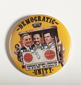 "view Pinback Button, ""Democratic Unity,"" Democratic National Convention digital asset number 1"