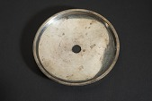 view Silver Serving Dish Saucer with Center Hole digital asset number 1
