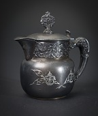 view Small Silver Tea Creamer with Lid digital asset number 1