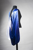 view [Academic regalia hood, black satin with white velvet trim] digital asset number 1