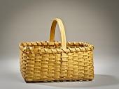 view Flat-Bottomed Basket with Handle digital asset number 1